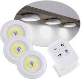Draadloze LED spots - met afstandsbediening en timer functie