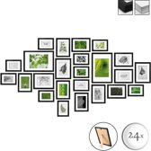 bomoe fotolijst Set van 24 - fotolijsten collage zwart
