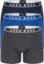 Hugo Boss - 3-Pack Boxershorts Grijs / Zwart / Blauw - XL