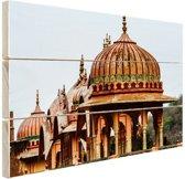 Galtaji Tempel India Hout 80x60 cm - Foto print op Hout (Wanddecoratie)