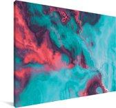 Abstracte achtergrond met diverse kleuren Canvas 30x20 cm - klein - Foto print op Canvas schilderij (Wanddecoratie woonkamer / slaapkamer)
