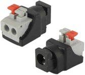 5 5 x 2 1 mm DC Power mannelijke Jack aan 2 dirigent schroef neer Connector voor LED licht Controller
