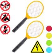 relaxdays 2x elektrische vliegenmepper - tegen muggen - vliegen mepper elektrisch - oranje