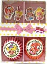 Blond Amsterdam Cupcakeset - 24 prikkers + bakjes