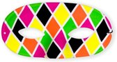 Oogmasker domino harlekino multicolor