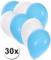 Oktoberfest ballonnen 30 stuks blauw/wit - Oktoberfest versiering