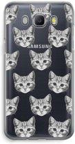 Samsung Galaxy J5 (2016) Transparant Hoesje (Soft) - Kitten