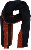 Profuomo sjaal navy met rood_ONESIZE, maat One size