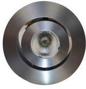 LED Spots 3 Watt 1 LEDs 190 Lumen Warm Wit   Ronde RVS Look Behuizing