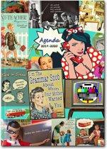 Lerarenagenda / Docentenagenda 2018-2019 HardCover Vintage Fifties