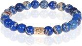 Memphis heren armband Blauw Tibetaanse kraal
