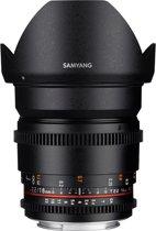 Samyang 16mm T2.2 Vdslr Ed As Umc Cs II - Prime lens - geschikt voor Canon Systeemcamera