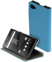 Blauw slim booktype flipcover Sony Xperia Z5 Compact hoesje