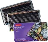Derwent Studio 72 kleurpotloden in blik