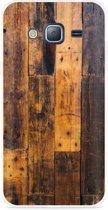 Galaxy J3 (2016) Hoesje Special Wood