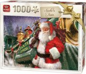 King Puzzel 1000 Stukjes (68 x 49 cm) - Kerstman - Legpuzzel Kerst