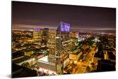 Sacramento in de Verenigde Staten tijdens de nacht Aluminium 60x40 cm - Foto print op Aluminium (metaal wanddecoratie)