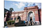 Vooraanzicht van het Egyptisch museum in Caïro Aluminium 60x40 cm - Foto print op Aluminium (metaal wanddecoratie)