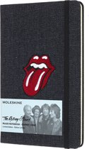 Moleskine notitieboek Rolling Stones denim - Large - Hard cover - Gelinieerd