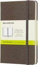 Moleskine Classic Notebook - Pocket - Plain - Hard Cover - Earth Brown