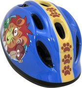 Stamp Fietshelm Jungle Animals Junior Blauw Maat 50/56 Cm
