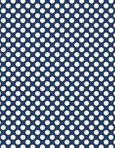 Polka Dots - Navy Blue 101 - Lined Notebook with Margins 8.5x11