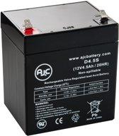 AJC® battery compatibel met Enduring 6FM4.5 12V 4.5Ah Step accu
