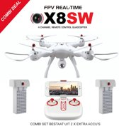 Syma X8SW PRO DRONE |FPV LIVE CAMERA HD +HOVER MODE (combi set 2x EXTRA ACCU PACK