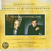 Brahms: Sonata For Two Pianos;