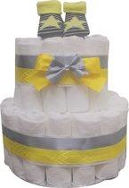Luiertaart met bij geel neutraal 2 lagen - maat 1 (2-5kg)