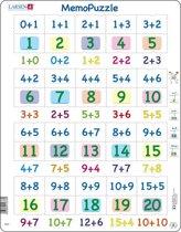 Puzzel Maxi Memopuzzel - Optellen met cijfers van 0-20 - 40 stukjes
