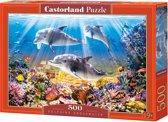 Dolphins Underwater - Legpuzzel - 500 Stukjes
