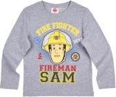Brandweerman Sam T-shirt met lange mouw - grijs - Maat 116