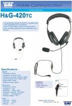 Team electronic H&G 420 TC professionele headset voor portofoons met Motorola aansluiting
