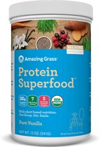 Amazing Grass Protein Superfoods - Pure Vanilla - 1 verpakking (341 gram) - Vegan supplement