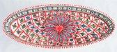 Handgemaakte en handbeschilderde authentieke Marokkaanse grote ovale schaal 40 cm