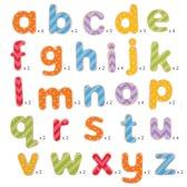 Bigjigs houten magneetletters magneet 'kleine' letters hout
