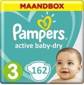 Pampers Active Baby Dry Maat 3 - 162 Luiers - Maandbox