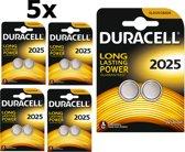 10 Stuks (5 Blister a 2St) Duracell CR2025 3V lithium knoopcel batterij
