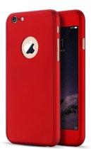 Rood 360 hoesje case bescherming voor iPhone 7 met Tempered Glass