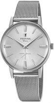 Festina F20252-1 Vintage - Horloge - Staal - Zilverkleurig - Ø 36 mm