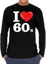I love 60s long sleeve t-shirt zwart heren -  i love sixties shirt met lange mouwen heren 2XL