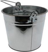 Emmer van zink 5 liter zilver - Zinken drankemmers - Zilveren decoratie emmers