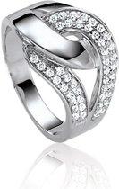 Classics&More - Zilveren Ring Pavᅵ gezet met zirkonia