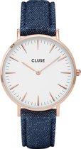 CLUSE CL18025 LA Bohème - Horloge - Dames - Blauw - Ø 38 mm