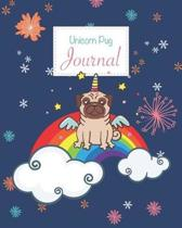 Unicorn Pug Journal