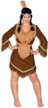 Indianen Vrouw Bruin-44
