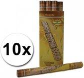 10 confetti shooters 60 cm goud - party popper / confetti kanon