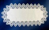 Tafelkleed - Grofkant - Wit - Loper 90 cm - 8139