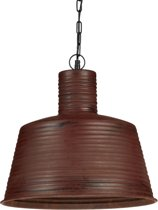 relaxdays hanglamp roest, plafondlamp design, pendellamp, retro industrieel lamp